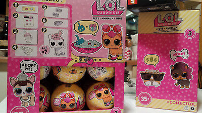 LOL Surprise PETS 18 Balls FULL CASE +BOX L.O.L Doll Ball SERIES 3 Authentic MGA