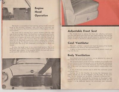 Nasco era FE HOLDEN OWNERS MANUAL Genuine and Original. Not reproduction..