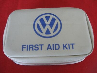 Volkswagen First Aid kit; with VW logo and untouched first aid items inside