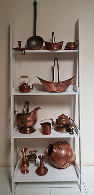 copper ornaments large and small Jugs and pots, vintage