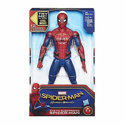 NEW Spider-Man Homecoming Eye FX Electronic Spider-Man Figure