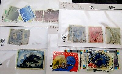Lot of Netherlands Postage Stamps in 35 approval cards, Unchecked