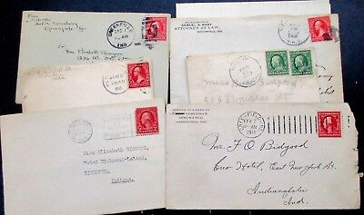 US Lot of 26 Vintage Envelopes, 1900-1920's  no letters, used