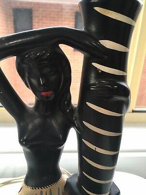 Barsony Collectable Antique Black Lady Lamp -- FL-39 Serial
