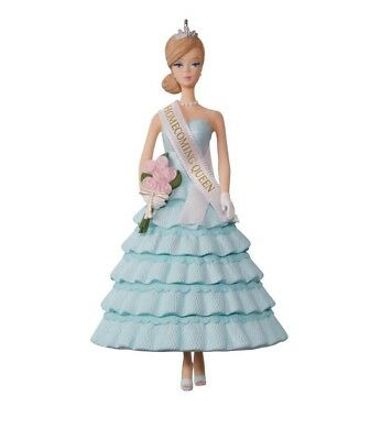 "Hallmark  ""Homecoming Queen"" Barbie Christmas Ornament~Light Blue Dress~2017~NIB"