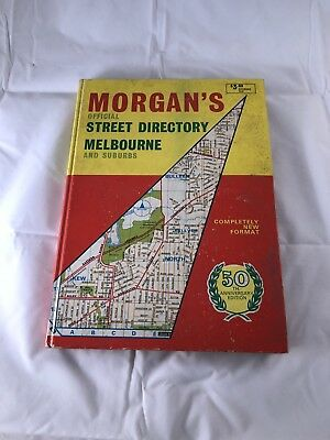 Vintage Morgans Street Directory, Anniversary 50th Edition, Melbourne & Suburbs