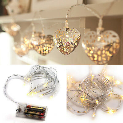 Star Heart Shape LED String Fairy Lights Wedding Party Club Home Decorate Set