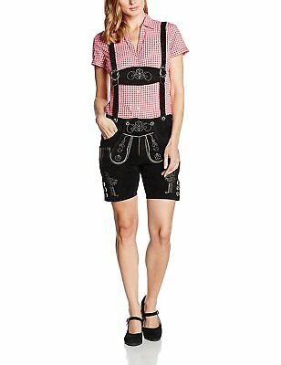 Gaudi-leathers Womens Traditional Shorts Classic Embroidery 42 Black