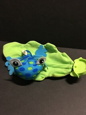 Fisher Price Rainforest Jumperoo Replacement Part Blue Frog Leaf Toy Plush