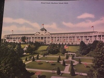 Vintage Art Post Cards, 3 Cent (1958-1963), 6 Uncirculated, Grand Hotel Mackinac