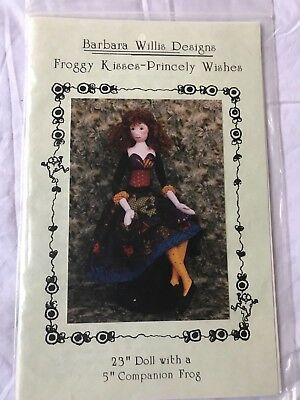 Barbara Willis designs froggy kisses- princely wishes doll pattern, 1998