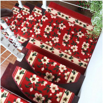 D35 5PCS Step Rug Stair Tread Mat Skid Resistance Household Carpet 65X24CM Z