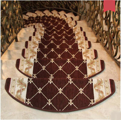 D10 5PCS Skid Resistance Stair Tread Mat Household Step Rug Carpet 24X65CM Z