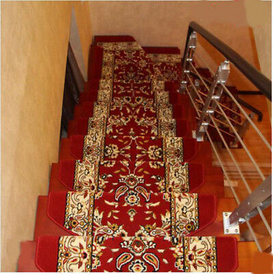 D22 5PCS Household Stair Tread Mat Skid Resistance Step Rug Carpet 65X24CM Z