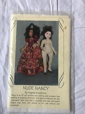 Nude nancy cloth doll pattern by Virginia Robertson
