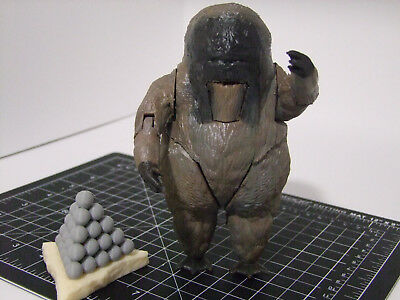 "Custom 3D printed 5"" scale Doctor Who action figure – Yeti mk. I w/t accessories"