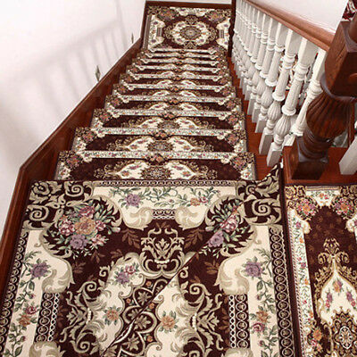 D2 5PCS Stair Tread Mat Skid Resistance Household Step Rug Carpet 30X100CM Z