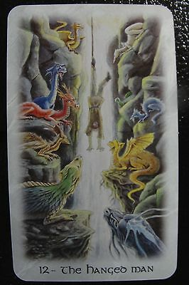 12 The Hanged Man The Celtic Dragon Tarot Single Replacement Card Excellent