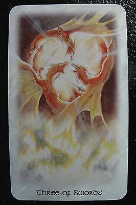 Three of Swords The Celtic Dragon Tarot Single Replacement Card Excellent