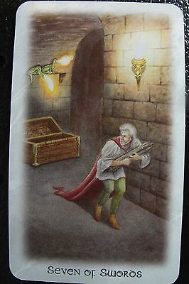 Seven of Swords The Celtic Dragon Tarot Single Replacement Card Excellent
