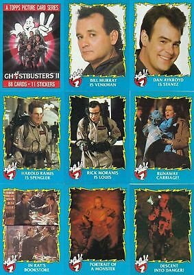 Ghostbusters II - Complete Trading Card Set (88/11) - 1989 Topps - NM