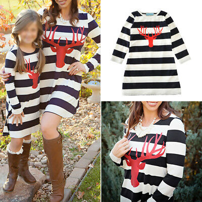 Mother And Daughter Dress Family Matching Women Baby Girls Kids Outfits Dresses