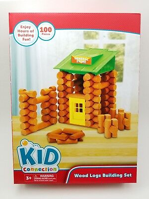 Lincoln logs. Wooden Logs, General Store - 100 Pieces. Building Set. NEW