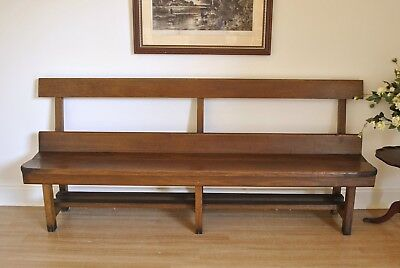 Antique Oak 204 cm Church Pew Hall / Window / Feature / Bench Seat c1925