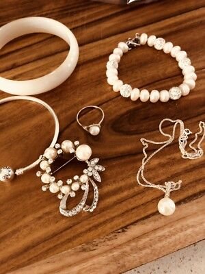 Bulk Lot Jewellery - Silver And Pearl