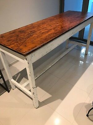 Table - rustic, french provincial, vintage, tall, wooden