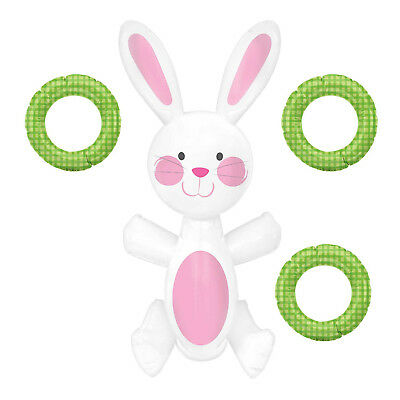 Easter Inflatable Bunny Rabbit Ring Toss Party Game Easter Activity Family Fun