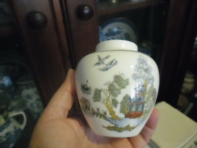 Wedgwood Coloured  Willow Chinese Legend Made In England Ginger Jar