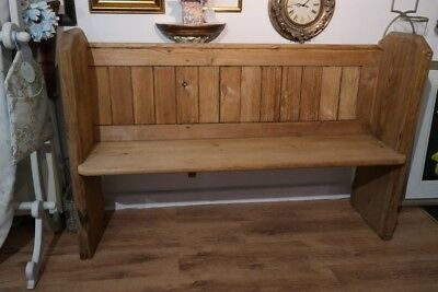 church pew (pitch pine)bench/dining room/living kitchen rustic stripped
