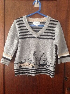 Bebe Lambs Wool Knitted Unisex Baby Jumper 18 Months