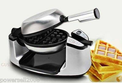 New Safe Easy High Quality Intelligence Commercial 180° Rotary Waffle Maker