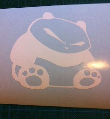 JDM 2 Sitting Panda Window sticker fit Drifting Nissan Toyota Honda Mazda Lexus