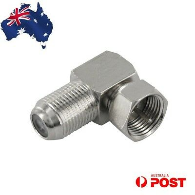 F-Type Male to Female F Connector Right Angle Adaptor