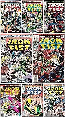 Set IRON FIST 7-15 High Grade Captain America X-Men John Byrne DEFENDERS