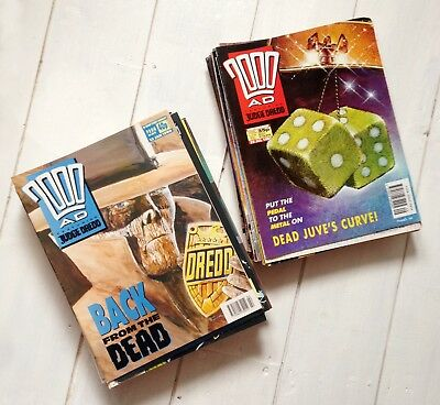 2000ad job lot - late 80s/early 90s. Approx 50 progs. Judge Dredd.