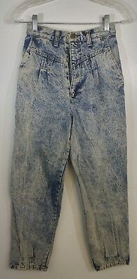 Palmetto's Women's High Waisted Vintage Jean Denim Acid Wash 12T 80's&90's