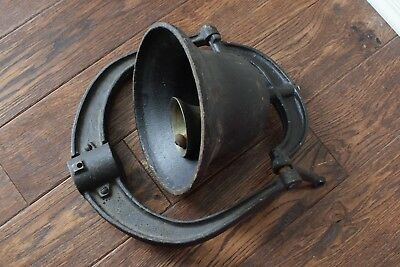 """RARE Large Cast Iron 9"""" Dinner Bell Antique Vintage Style"""