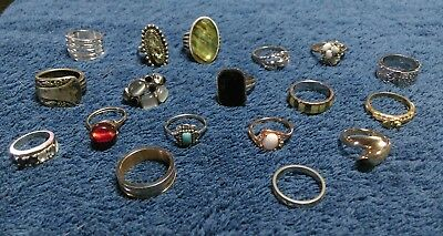 "LARGE Estate vintage  Lot of Jewelry  Junk drawer. "" All Rings"""