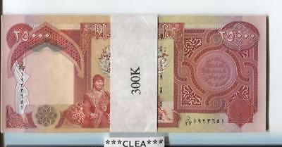 300,000 NEW CRISP IRAQI DINAR UNCIRCULATED SERIAL NUMBERED 12 x 25,000 25000 IQD
