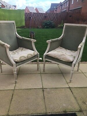 Two Vintage Armchairs, Shabby Chic Project