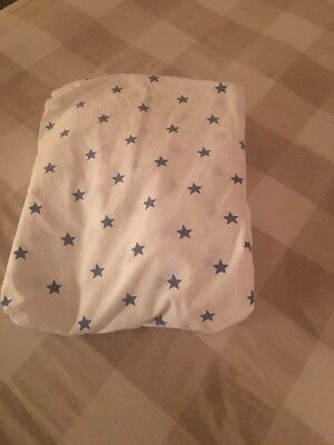 Pottery Barn Kids White And Navy Stars Crib/toddler Bed Sheets