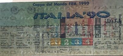 NEW UNUSED Ticket Biglietto Mondiali WC ITALIA 1990 SEMIFINAL ITALY ARGENTINA