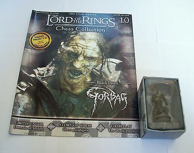LORD of the RINGS CHESS Piece FIGURE GORBAG in BOX & MAG #10  Eaglemoss UK