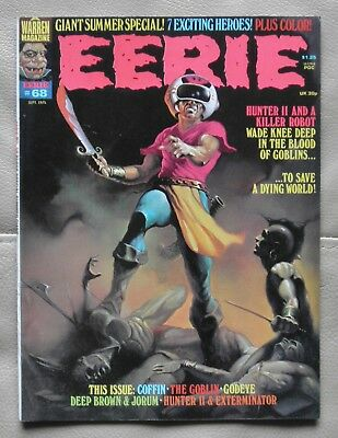 Eerie # 68 Warren 1975 with Berni Wrightson in color