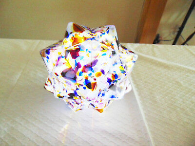 Fabulous Unique Art Deco End Of Day Mottled Glass Lamp Shade