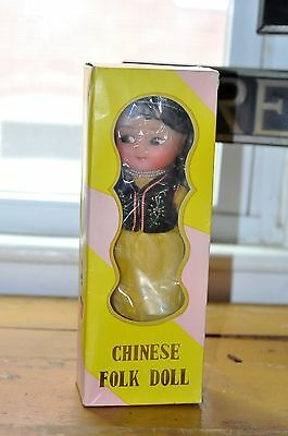 Chinese Folk Doll w/Box